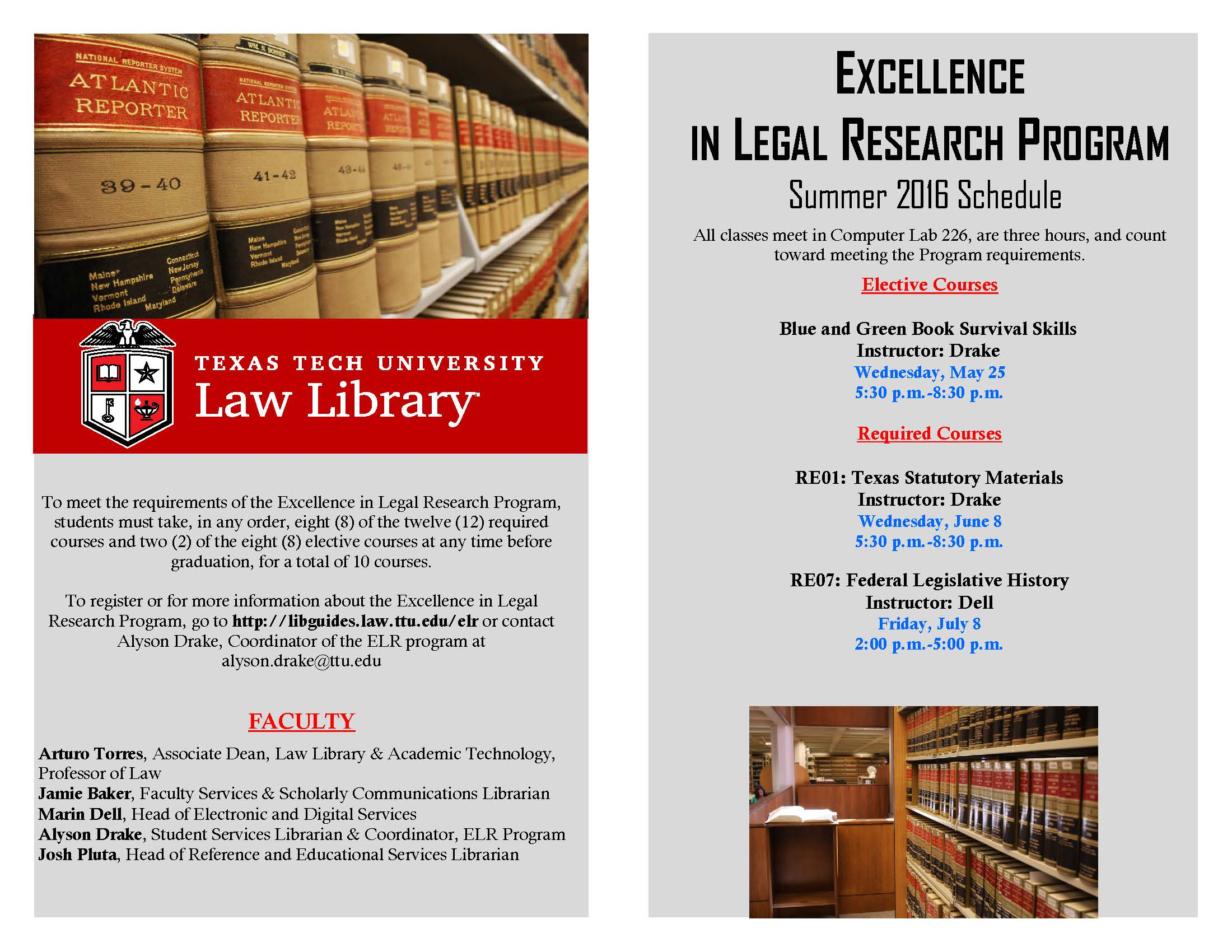 Excellence in Legal Research Summer Classes – The Reporter