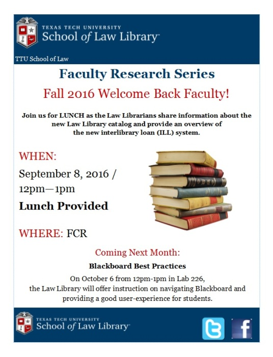 Fall 2016 Welcome Back Faculty