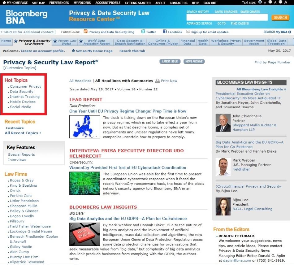 pslr hot topics homepage