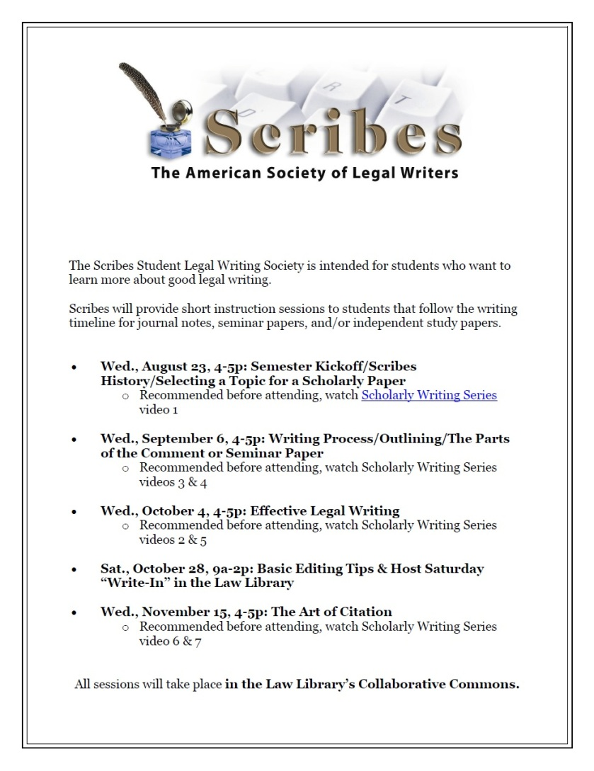 Scribes Fall 2017
