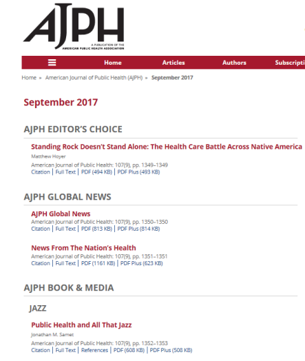 AJPH issue