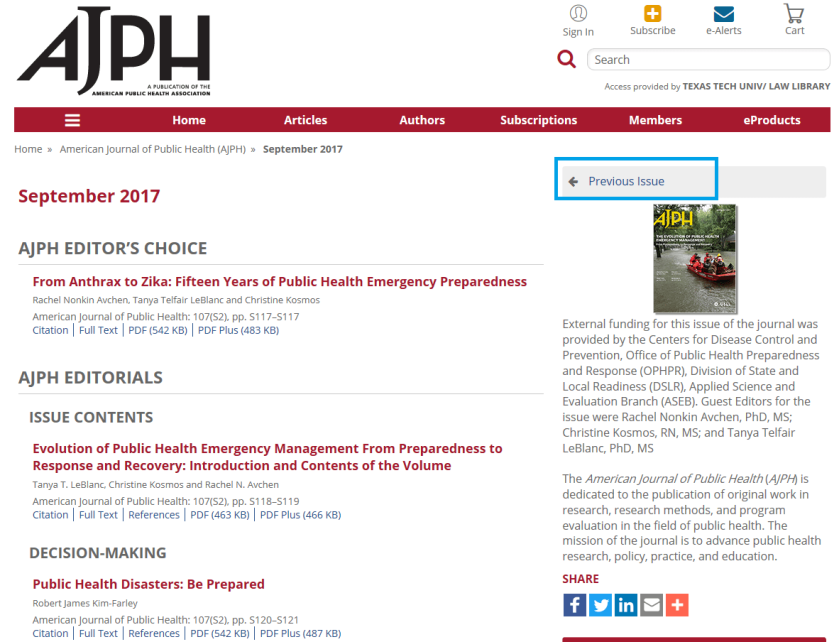 AJPH previous issue 2