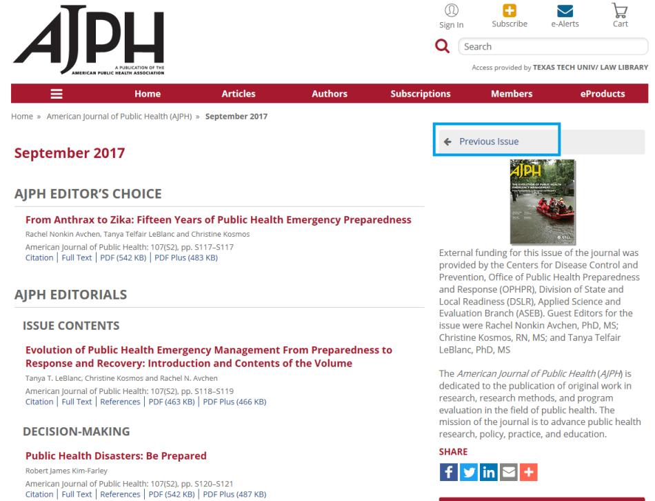 AJPH previous issue 2