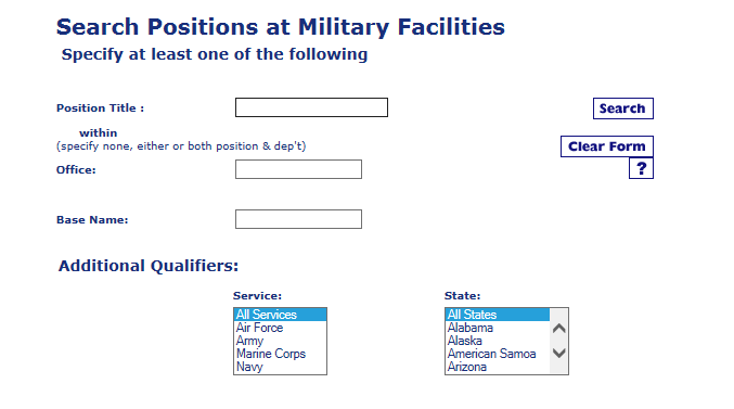 military positions