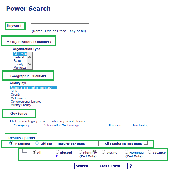 Power search with boxes