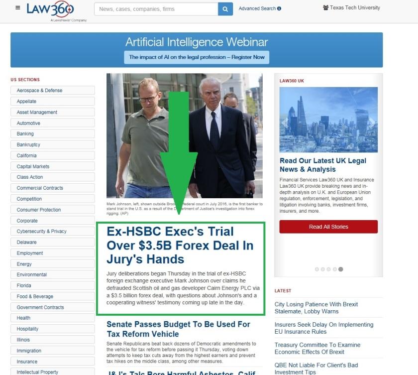2. Law 360 Breaking News
