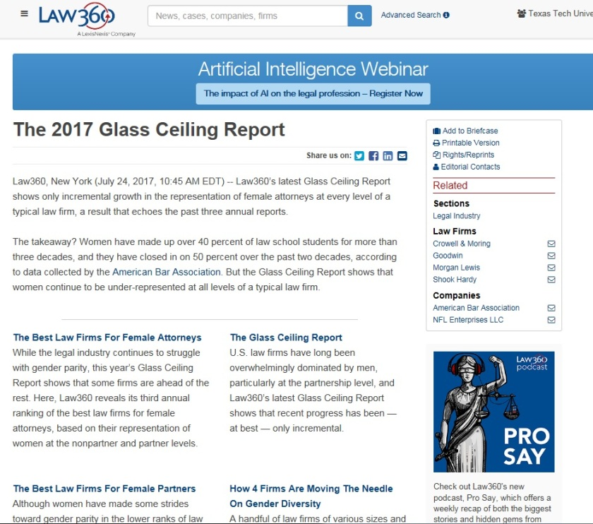 4. Law 360 Glass Ceiling