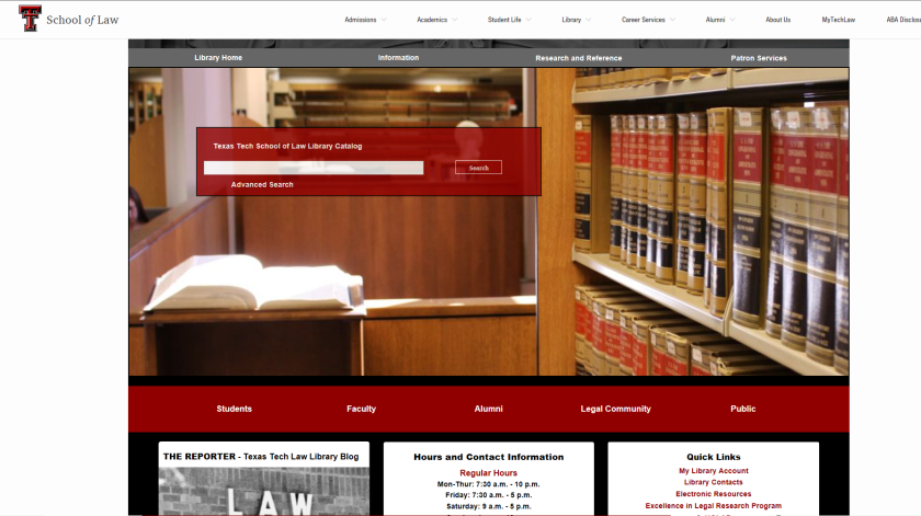 Library Front Page