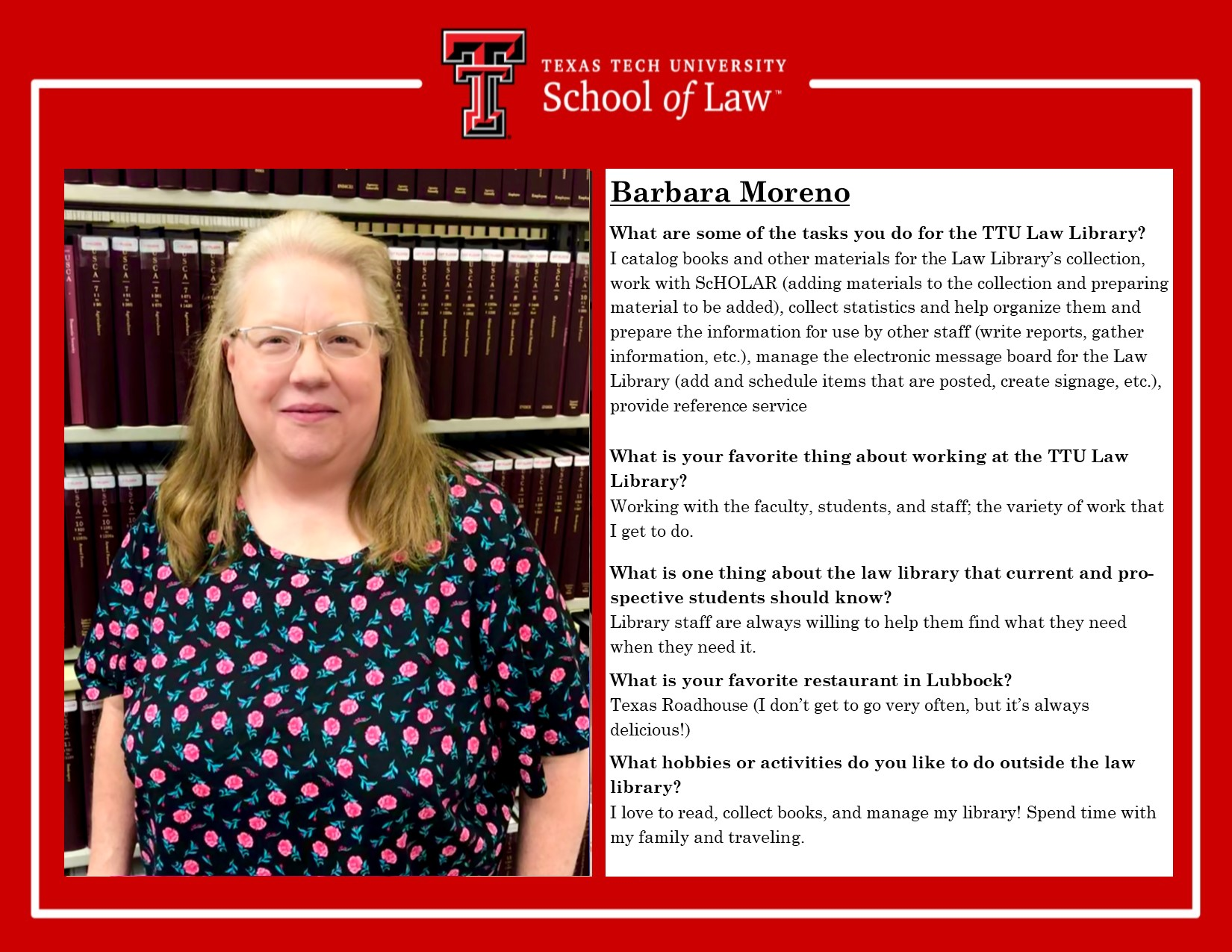 Staff Spotlight Barb