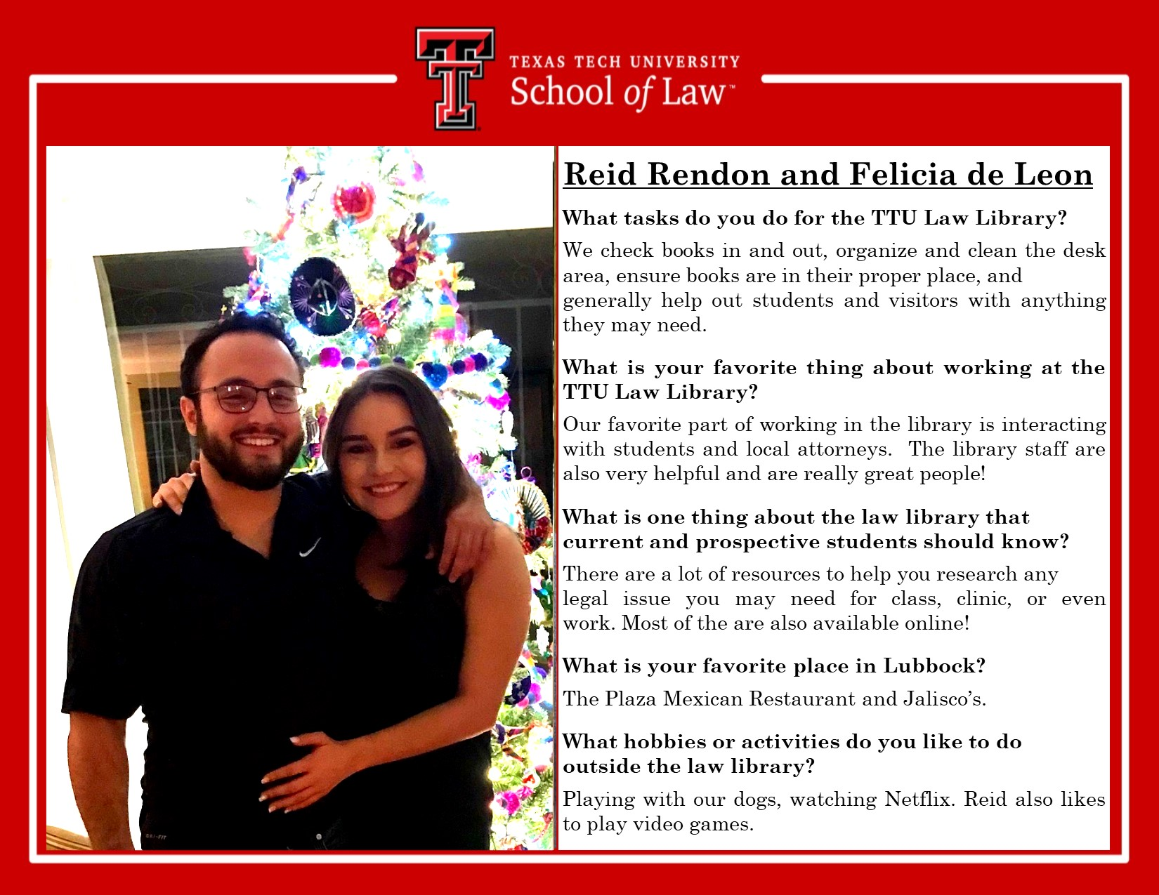 Staff Spotlight reid and felicia