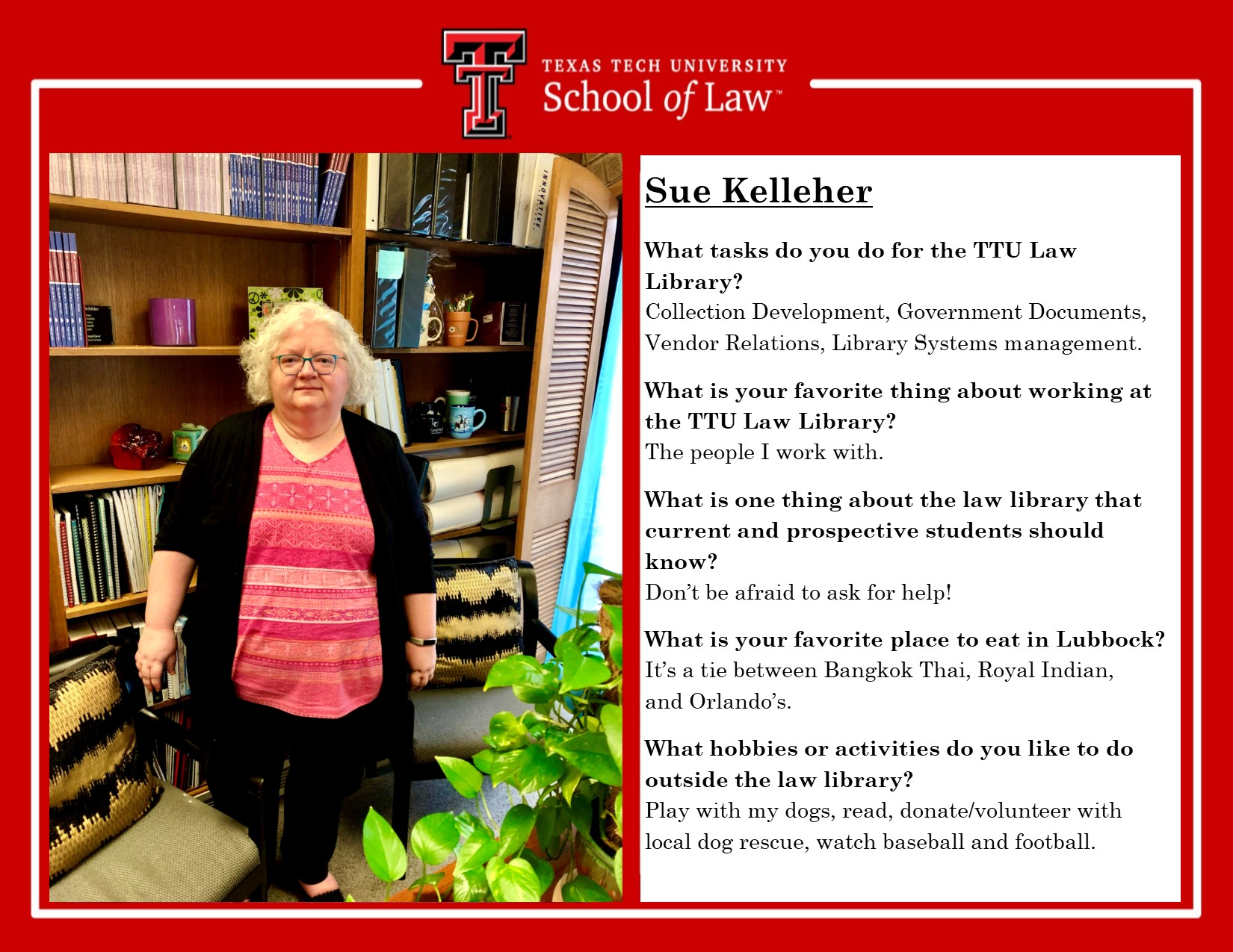 Staff Spotlight Sue