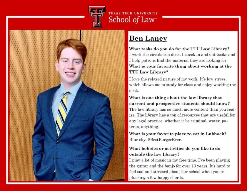 Ben Laney Staff Spotlight